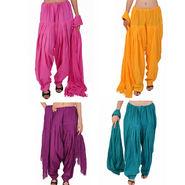 Pack of 4 Stylenmart Plain Cotton Patiala Salwar Dupatta-STMAFCPD078611