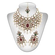 Panini Gold Plated Necklace Set - Multicolour _ 3030
