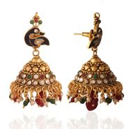 Panini Gold Plated Jhumki - Multicolour _ 51