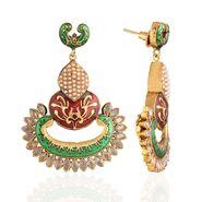 Panini Designer Dangle Earrings - Multicolour _ F-270
