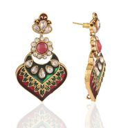 Panini Designer Dangle Earrings - Multicolour _ F-119