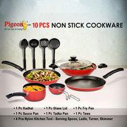 Pigeon Set of 10 Pcs Non Stick Cookware