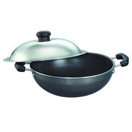 Prestige Non Stick Omega Select Plus Round Base Kadai 200 mm with SS Lid