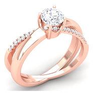 Kiara Swarovski Signity Sterling Silver Poonam Ring_R3718 - Pink