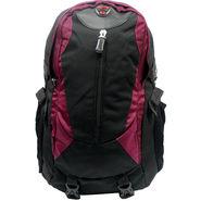 Donex Polyster Rucksack RSC00689 -Black & Purple