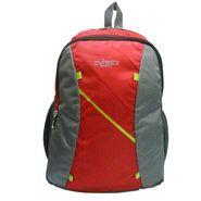 Donex Designer Light weight College Backpack Red Grey_RSC00884