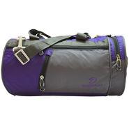 Donex Nylon Violet Grey Gym Bag -Rsc01391