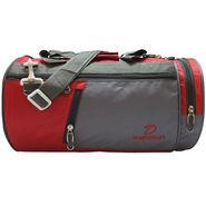 Donex Nylon Red Grey Gym Bag -Rsc01393