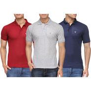 Pack of 3 Rico Sordi Half Sleeves Plain Tshirts_RSD749
