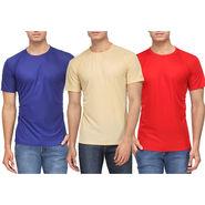 Pack of 3 Rico Sordi Half Sleeves Plain Tshirts_RSD754