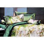 4D Printed  Double Bed Sheet With 2 Pillow Cover- S-012