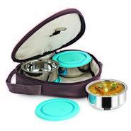 Nanonine Insulated 3Pc Hexa Junior Lunch Box Ss098