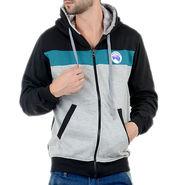 Blended Cotton Full Sleeves Sweatshirt_Swdl19 - Grey & Black