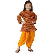 Little India Sanganeri Designer Motif Dhoti Angarkha Set - DLI3KED203A