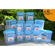 Chetan Set of 18 Pcs Plastic Airtight Kitchen Storage Containers - Blue