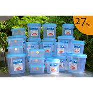 Chetan Set of 27 Pcs Plastic Airtight Kitchen Storage Containers - Blue