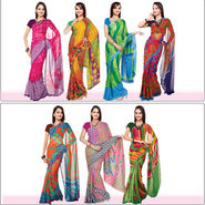 Set of 7 Navya Georgette Sarees (7G456) - AKSO