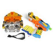 Sponge Gun With Sucker Toy Gun Robot Power Equipment Set