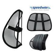 Speedwav Car Seat Back Rest Lumber Support-Black
