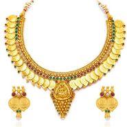 Sukkhi Graceful & Divine Gold Plated Necklace Set - Golden - 2153NGLDPL3050