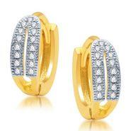 Sukkhi Lavish Gold and Rhodium Plated Earrings - Golden & White - 190EARSDPVTS500