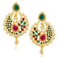 Sukkhi Wavy Gold Plated Earrings - Golden - 6061EGLDPM500
