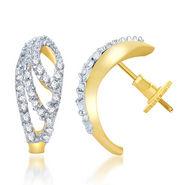 Sukkhi Gold Finished Earrings - White & Golden - 140E310