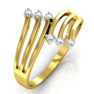 Avsar Real Gold & Swarovski Stone Swapna Ring_T034yb