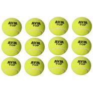 AVM Green Top Tennis Ball Pack Of 12 Pcs - Standard