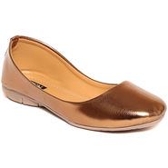 Synthetic Leather Copper Bellerinas -552Cpr03