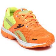 Ten Orange & Green Mesh Sports Shoes -mtj14