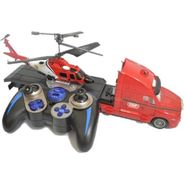 Combo of Army Edition 3.5Ch Helicopter & 4Ch RC Truck - Red
