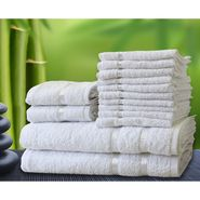 Story@Home 14 Pcs Premium Towel Combo 100% Cotton-White-TW1201_2X-1M-1S