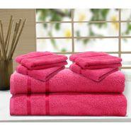 Story@Home 6 Pcs Premium Towel Combo 100% Cotton-Pink-TW1202_2X-2M