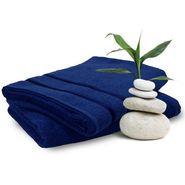 Storyathome Navy Cotton Ladies Bath Towel-TW1207-L