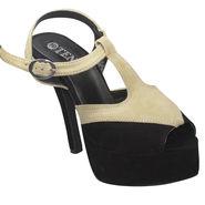 Ten Suede Leather Stilettos For Women_tenbl118 - Black