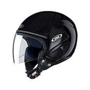 Studds - Open Face Helmet - Cub (Black) [Large - 58 cms]