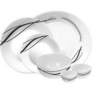 Treo Bormioli Autumn Leaf Flowblack Pack of 27 Glass Dinner set   LE-TREO-005-27