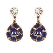 Urthn Preety Drop Style Earrings - Blue - 1301709