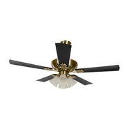 Usha Fontana Maple 1250mm Ceiling Fan - Antique Brass