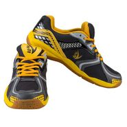 V22 Badminton Court Dark Grey and Yellow Shoes Size - 8