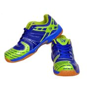 V22 Ultra Badminton Court Blue and Neon Green Shoes Size - 7