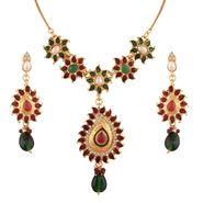Variation Multi Meenakari Gold Plated Necklace Set_Vd14208