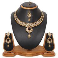 Vendee Fashion Ethnic Design Necklace Set - Brown - 8331