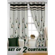 Set of 2 Printed Window curtain-5 feet-WBR_2_4021