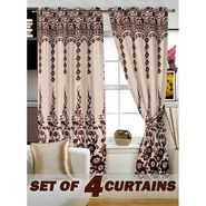 Set of 4 Printed Window curtain-5 feet-WBR_4_4024