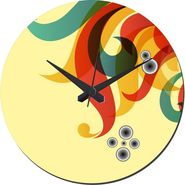 meSleep Side Swirls  Wall Clock With Glass Top-WCGL-02-23
