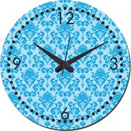 MeSleep Blue Self Print  Wall Clock With Glass Top-WCGL-02-27