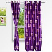Story @ Home Purple 2 pc Window curtain-5 feet-WNR3070