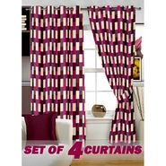 Set of 4 Printed Window curtain-5 feet-WNR_2_3049